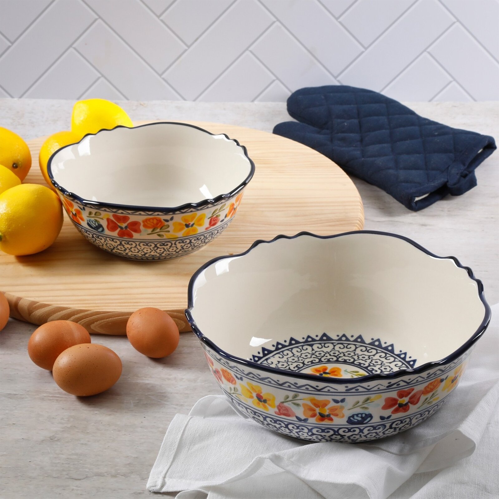 Floral Serving Bowls You Ll Love In 2021 Wayfair