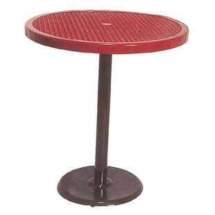 Ultra Play Portable Round Food Court Picnic Table with Diamond Pattern