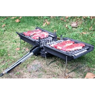 26 Mr Flame Son Of Hibachi Vintage Cast Iron Portable Charcoal Grill