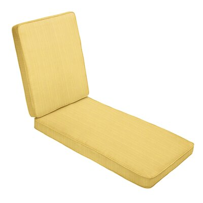 """Indoor/Outdoor Sunbrella Chaise Lounge Cushion Red Barrel Studio Fabric: Textured Yellow, Size: 3"""" H x 25"""" W x 79"""" D"""
