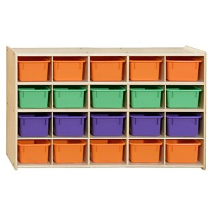20 Compartment Cubby with Trays ByWood Designs