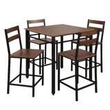 Elijahh 5 - Piece Counter Height Dining Set by Latitude Run®