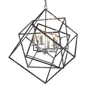 Brayden Studio Milian 6-Light Geometric Chandelier