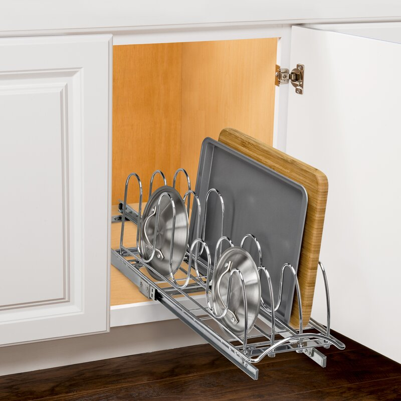 Kitchen Cabinet Pull Out Organizers lynk lynk professional® roll out pan lid holder - pull out kitchen