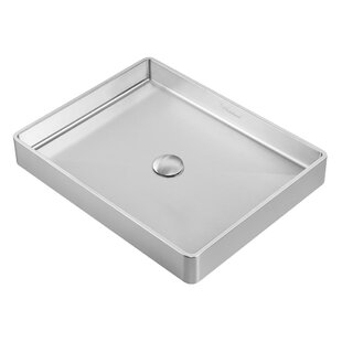 Whitehaus Collection Noah Plus Metal Rectangular Vessel Bathroom Sink