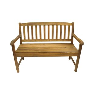Acacia Wood Outdoor Patio Garden Bench by Northlight Seasonal Discount