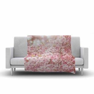 Debbra Obertanec Springs Floral Digital Fleece Blanket ByEast Urban Home