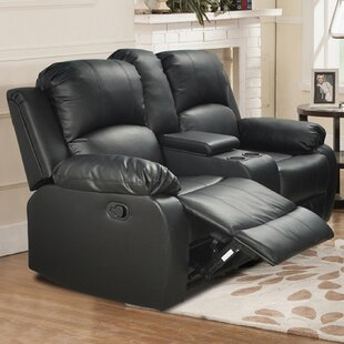Mayday Console Reclining Loveseat Red Barrel Studio