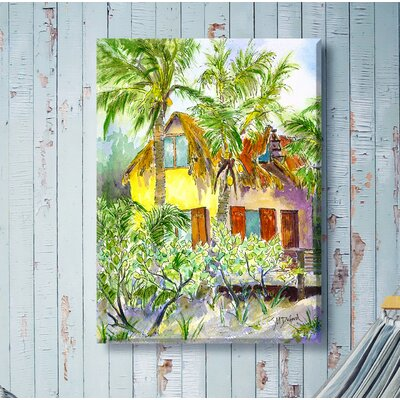 West of the Wind Outdoor Canvas Art The Hideaway Framed Painting Print on Wrapped Canvas