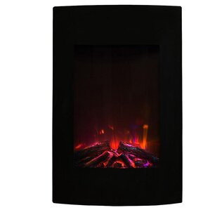 Scoria Curved Wall Mount Electric Fireplace ..