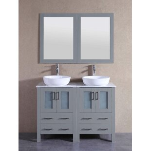Review 47.3 Double Vanity Set with Mirror by Bosconi
