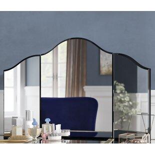 Rosdorf Park Tri-Fold Irregular Makeup Mirror