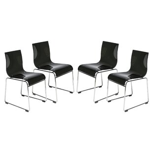 LeisureMod Lima Side Chair (Set of 4)