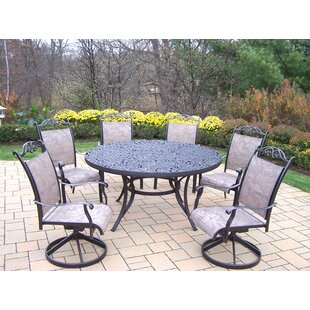 Oakland Living Mississippi 7 Piece Sling Dining Set
