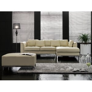 Tachani Leather Corner Sectional