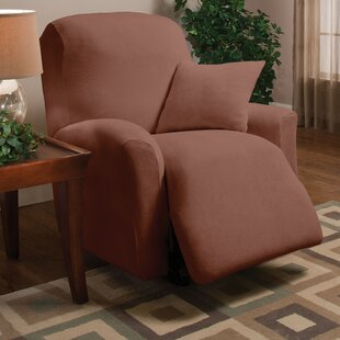 Stretch Microfleece Box Cushion Recliner Slipcover