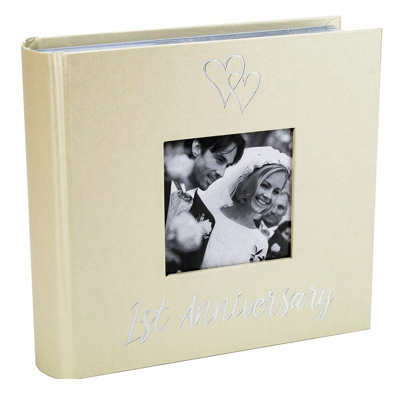 Winston Porter Beautiful 1st Wedding Anniversary Photo Album Wayfair