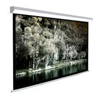 Claudette White Manual Projection Screen by Symple Stuff