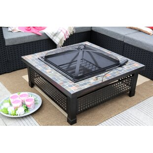 Steel Charcoal Fire Pit Table by Baner Garden