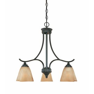Holm 3-Light Shaded Chandelier by Charlton Home
