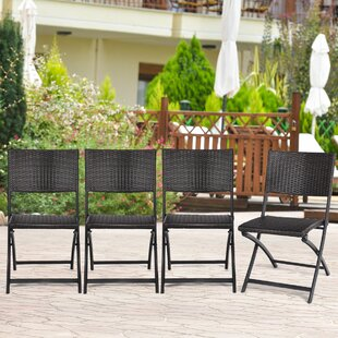 Whitecliff Folding Patio Dining Chair (Set of 4)