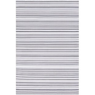 Best Bybrook Hand Woven Gray/White Area Rug By Rosecliff Heights