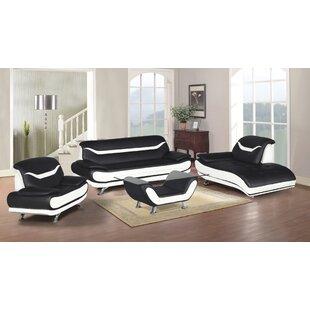 Hamon 3 Piece Living Room Set by Orren Ellis