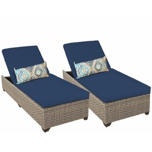 Monterey Chaise Lounge with Cushion (Set of 2)