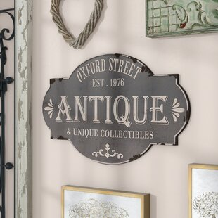 Delightful Oxford Street Antique Sign Wall Decor