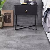 Helmer 1 - Drawer Metal Nightstand in Black by 17 Stories