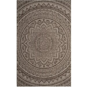 Amedee Power Loom Light Beige/Light Brown Indoor/Outdoor Area Rug