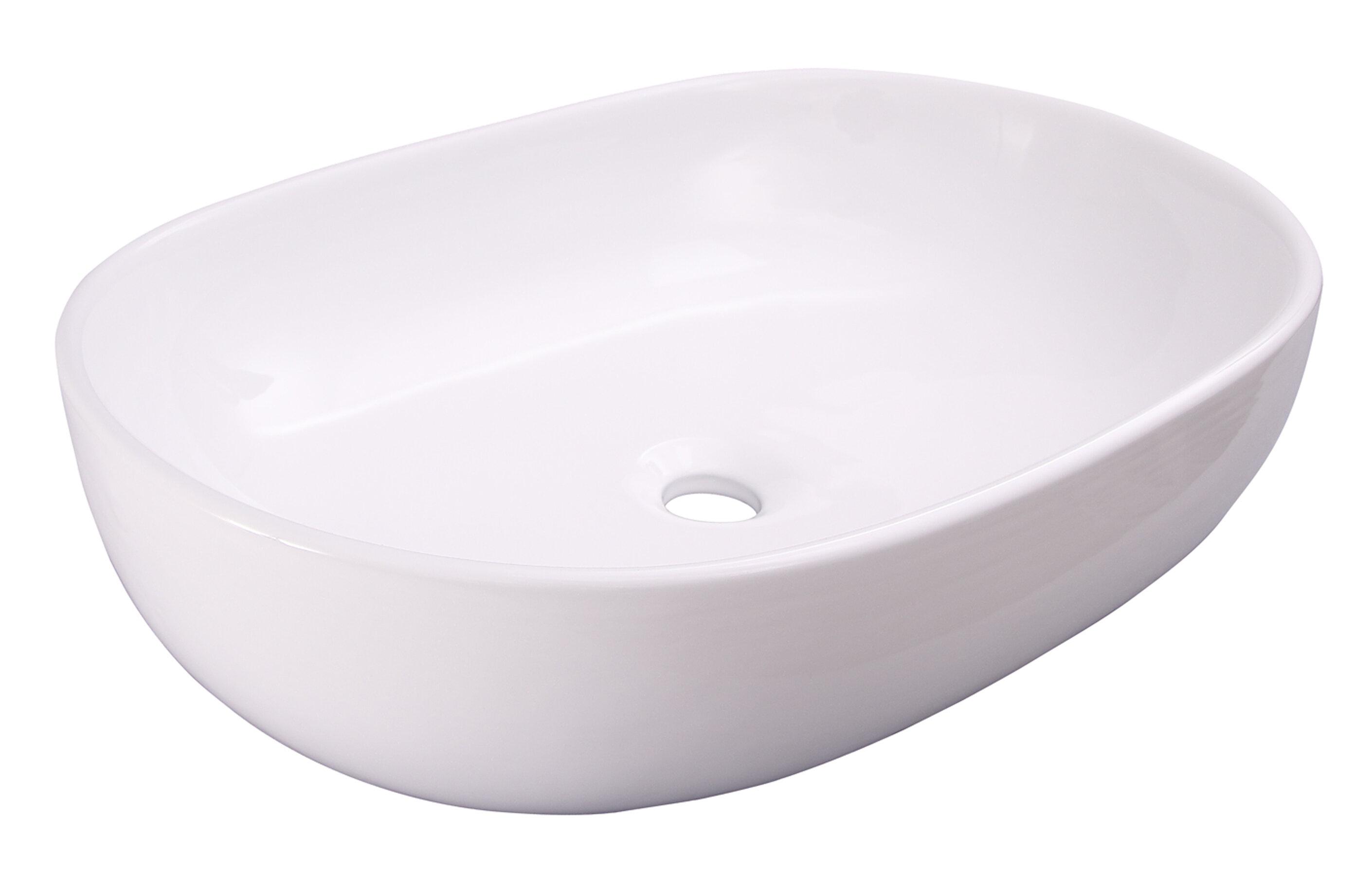 Barclay Kesha Vitreous China Oval Vessel Bathroom Sink Wayfair