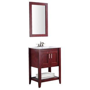 Buying Elkin 24 Single Bathroom Vanity Set with Mirror ByBreakwater Bay