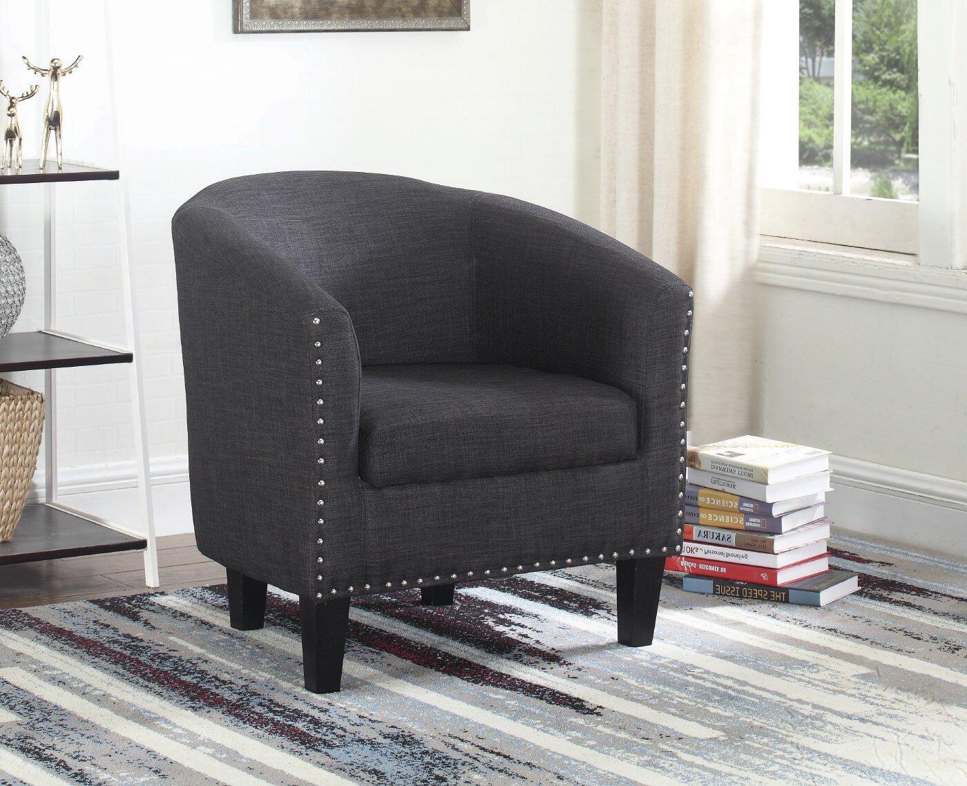 Caples Fabric Barrel Chair