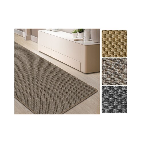 Tiger Tufted Anthracite Rug Mercury Row Rug Size: Runner 200