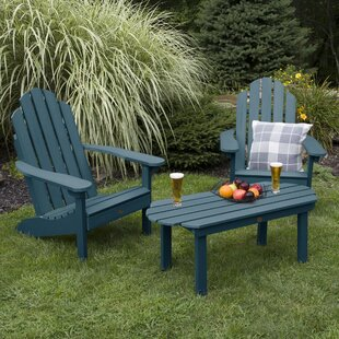 Highpoint Classic Plastic Adirondack Chair with Table by Alcott Hill