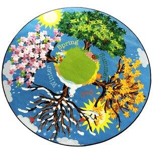 Buy clear Anders The Seasons Blue Area Rug ByZoomie Kids