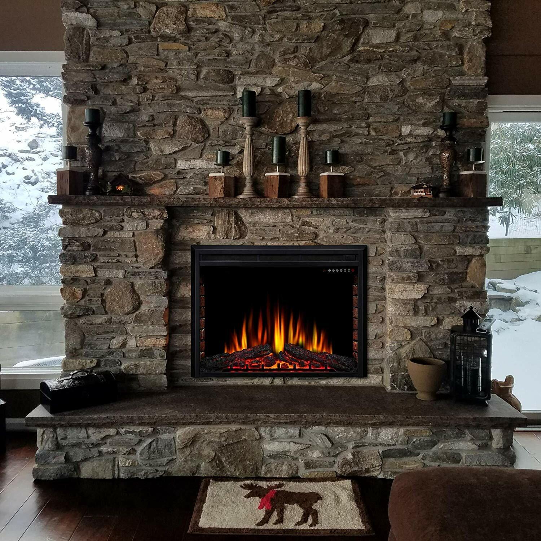 Ebern Designs Elyas Electric Fireplace Insert & Reviews   Wayfair