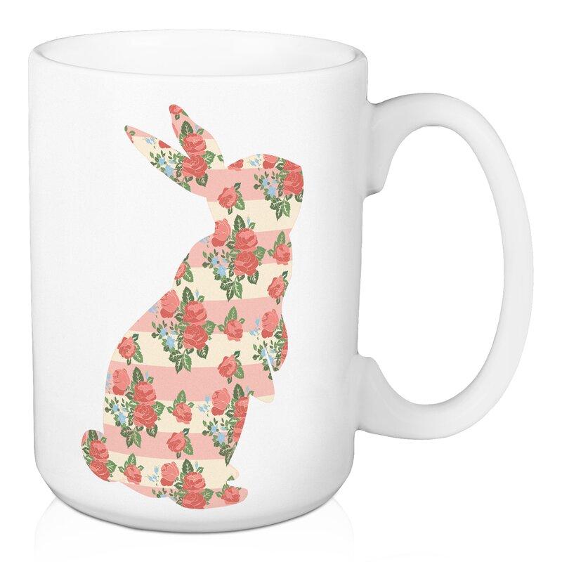 August Grove Choi Standing Bunny Coffee Mug Wayfair
