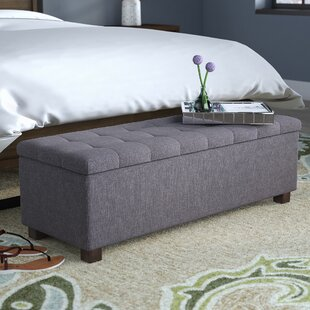 Kareem Upholstered Storage Bench Latitude Run