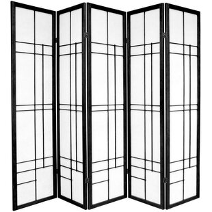 Clara Shoji 5 Panel Room Divider by World Menagerie