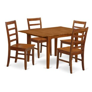 Lorelai 5 Piece Dining Set Alcott Hill