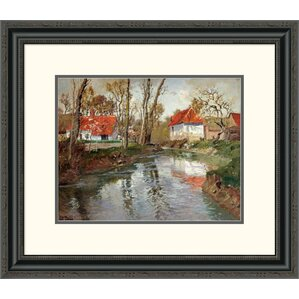 u0027the dairy at by frits thaulow framed painting print u0027