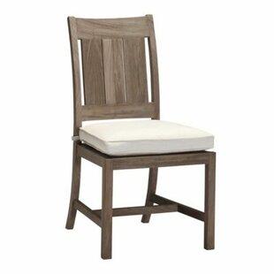 Summer Classics Croquet Teak Patio Dining Chair with Cushion