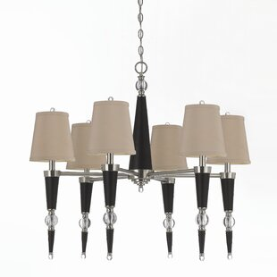 6-Light Shaded Chandelier by AF Lighting