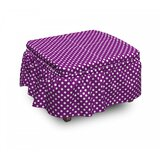 Old Fashioned Vivid Dots 2 Piece Box Cushion Ottoman Slipcover Set by East Urban Home