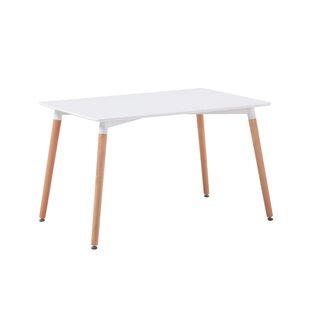Foti Minimalist Dining Table by George Oliver 2019 Online