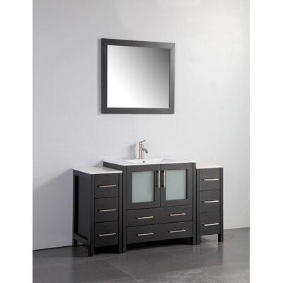 "Bathroom Vanities Lexington Ky fresca torino 54"" single modern bathroom vanity set with mirror"