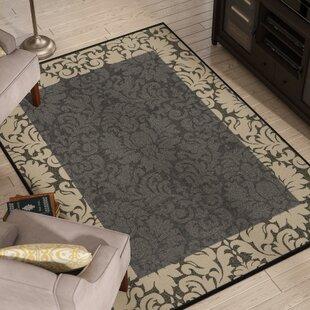 Short Black / Sand Indoor/Outdoor Area Rug
