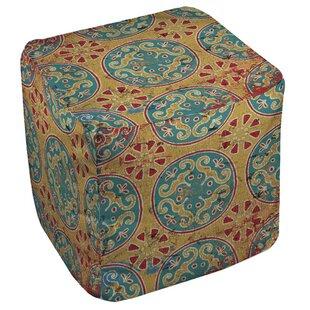 Theo Medallion Cube Ottoman